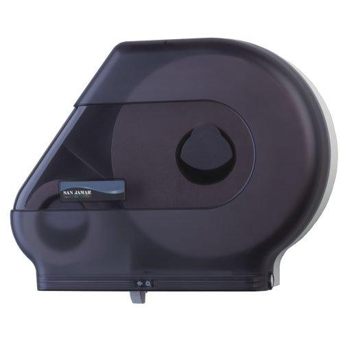 Quantum Black Jumbo Roll Bath Tissue Dispenser w/ Stub Roll Comp
