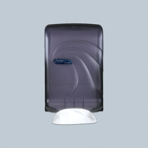 Black Large-Capacity Oceans Towel Dispenser for C-Fold/Multifold