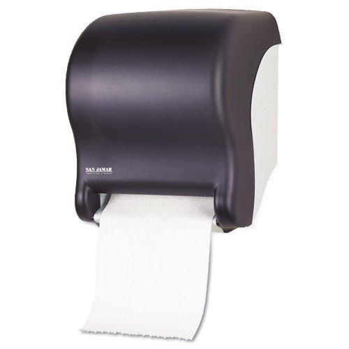 Touchless Towel Dispenser ~ San jamar tear n dry eco black touchless towel dispenser
