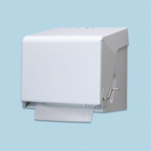 White Crank Roll Towel Dispenser