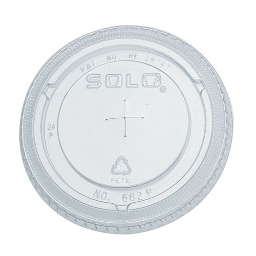 Clear Plastic Cold Cup Lid w/ Straw Slot for 10 oz. Cups