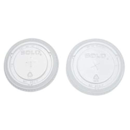Clear Plastic Cold Cup Lid w/ Straw Slot for 9, 12, & 14 oz. Cups