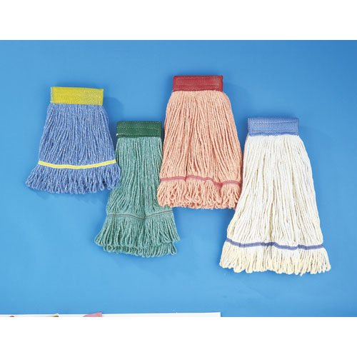 Orange Super Loop Cotton Fiber Wet Mop Head, L