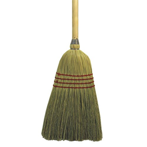 Mixed Fiber Bristles Maid Broom w/ 42 in. Wooden Handle