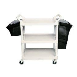 Black 3-Shelf Open All Sides Utility Cart