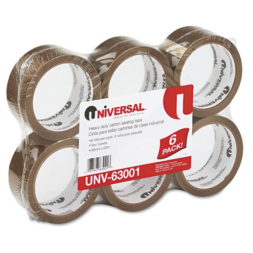 Tan General Purpose 1.85 mil Box Sealing Tape, 55 yd.
