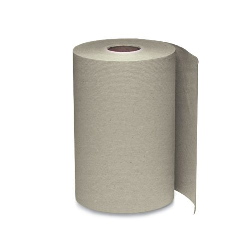 Brown 1-Ply Nonperforated Hardwound Roll Towels, 5.5 in. Diameter