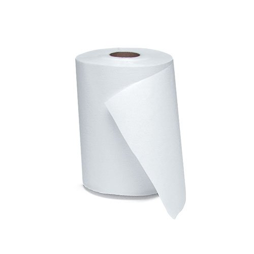 White 1-Ply Nonperforated Hardwound Roll Towels, 6.5 in. Diameter