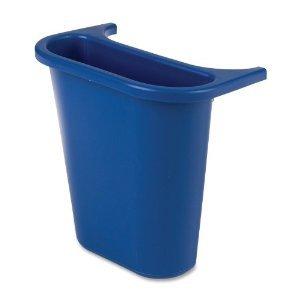 Blue Wastebasket Recycling Side Bin