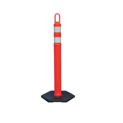 4-ft Looper-Tube Traffic Marker w/ 12 lb. Rubber Base