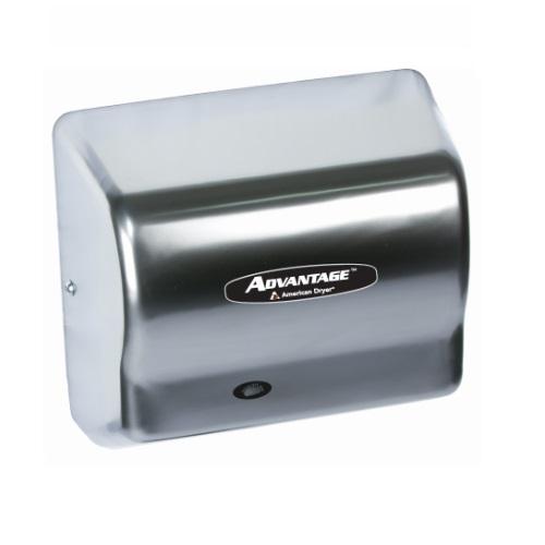 1400W Advantage AD Hand Dryer, 100-240V, Satin Chrome