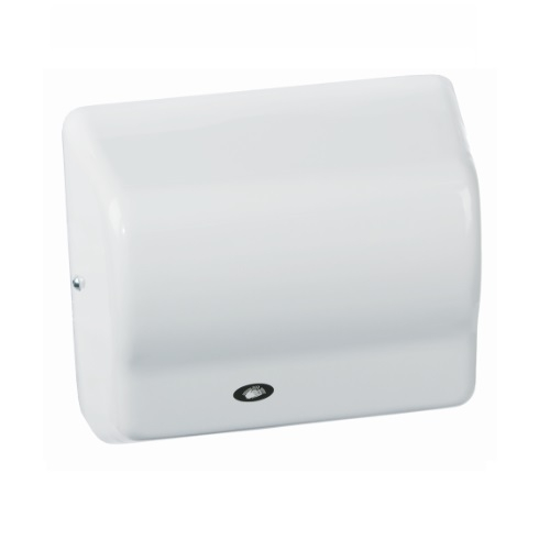 1500W Global GX Series Hand Dryer, Wall Mounted, 110-120V, White Aluminum