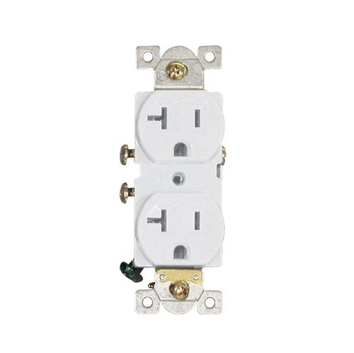 20 Amp Duplex Receptacle Outlet White Rec20w Homelectrical Com