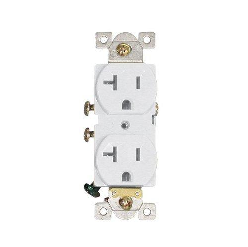 AH Lighting 20 Amp, Duplex Receptacle Outlet, White (AH Lighting ...