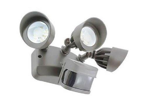 36W Infrared Motion Sensor Triple LED Flood Light 120V 3000K Dark Bronze
