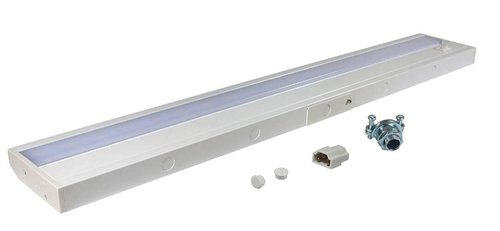 American Lighting 24 In 8w Led Linear Undercabinet Light Dimmable 515 Lm 120v 3000k White American Lighting Alc2 24 Wh Homelectrical Com
