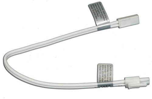 Xenon 120 Volt Puck Light, 24-Inch Linkable Extensions, White