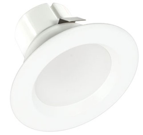 White, 9W 3 Inch Round LED Retrofit Downlight, 3000K, Dimmable