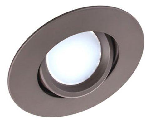 Oil Rubbed Bronze, 8W 3 Inch Round Swivel LED Downlight, 3000K, Dimmable