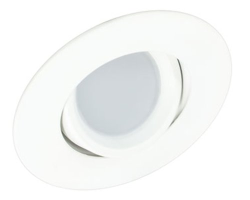 White, 8W 3 Inch Round Swivel LED Downlight, 3000K, Dimmable