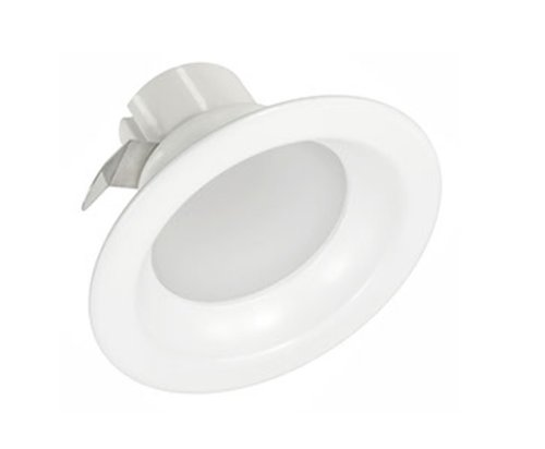 White, 9.5W 4 Inch Round LED Downlight, 2700K, Dimmable