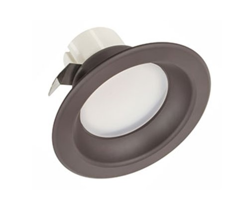 Dark Bronze, 3000K, 9.5W 4 Inch Round LED Downlight, Dimmable