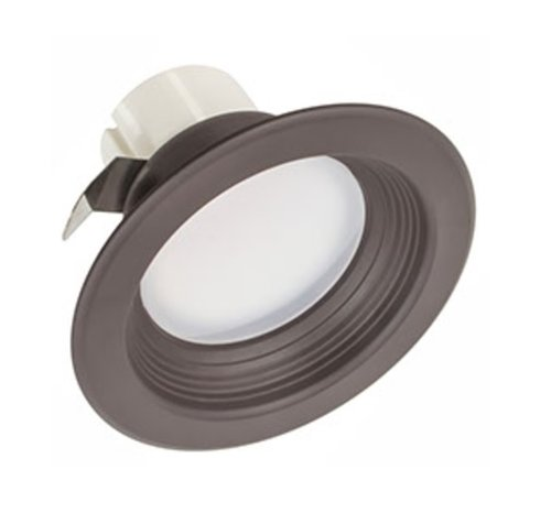 9.5W 4'' Round LED Downlight 120V 2700K Dimmable Dark Bronze Baffle