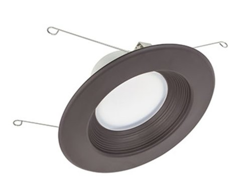 13.5W 5-6'' Epiq 56 LED Downlight 120V 3000K Dimmable Dark Bronze Baffle