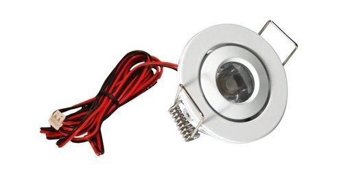 3000K 1.25W 350mA LED Mini Swivel Puck Light, White
