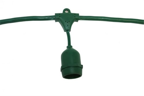 48 Foot E26 25W Max LED Suspended Cord and Plug Green String Lights