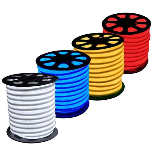 Amber, 2.4W, 120V,  LED Cuttable Polar-2 Neon Strip, 150 Ft Reel