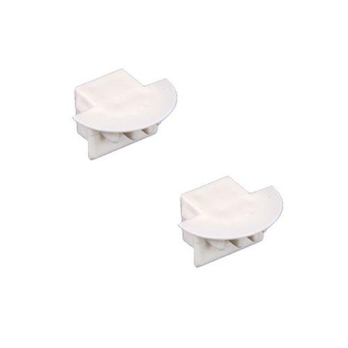 Double Flange End Cap for TruLux Series Strip Light Fixture