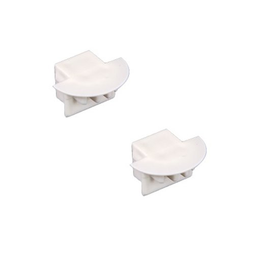 Double Flange End Cap for TruLux Series Strip Light Fixture
