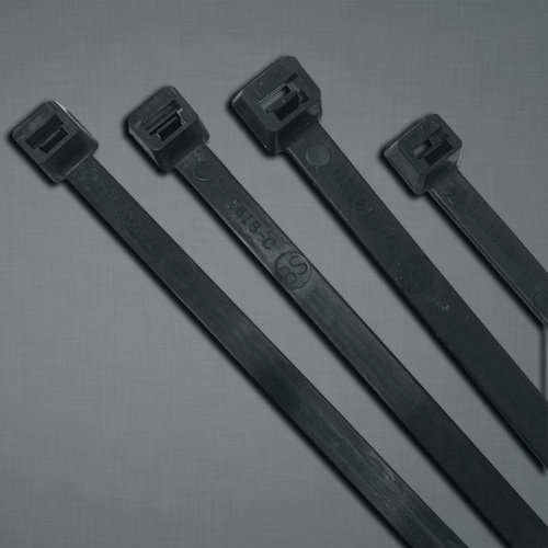 11.1 Inch 50 Pound Tensile Strength UV Stabilized Cable Ties, Bag of 100
