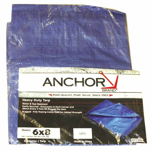 Blue 20 Foot by 12 Foot Multi-use Polyethylene Water Resistant Tarp