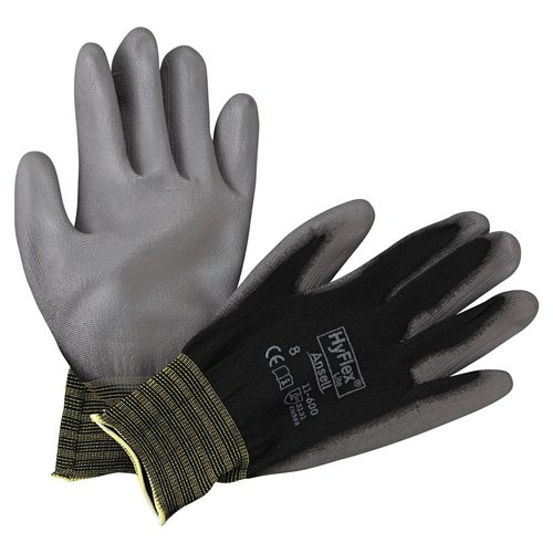 Size 8 Black/Gray HyFlex Lite Gloves