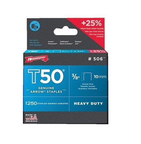 Collection of 1250 3/8 Inch by 3/8 Inch T50 Staples