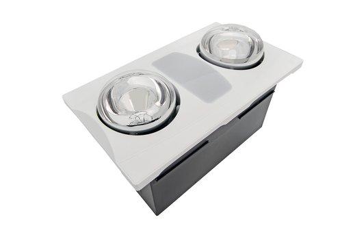 Aero Pure 80 CFM 2-Bulb Quiet Bathroom Heater Fan With