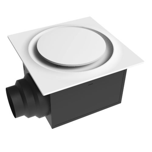 Aero Pure 15 2w Quiet Bathroom Fan W Led Light Adjustable Speed 3000k White