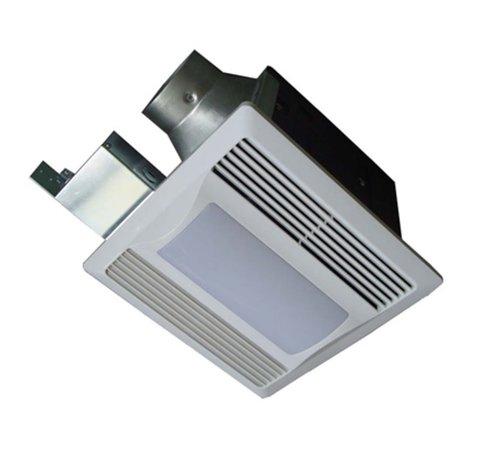White 29W Super Quiet Bathroom Fan with Night Light