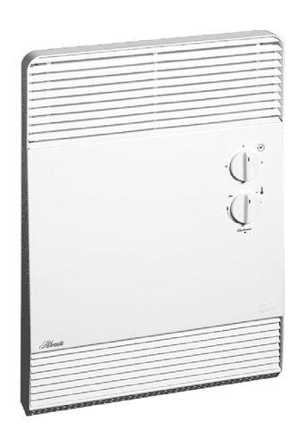 2000W Silhouette Forced Air and Covection Bathroom Heater, White