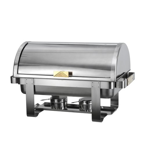 Gold Accent 8 Qt Roll Top Chafing Dish