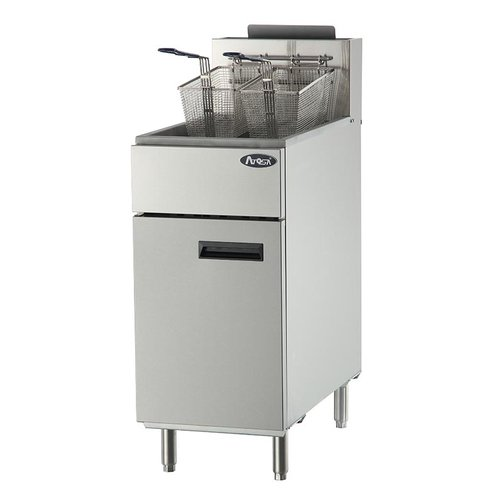 40 lb. Heavy Duty Stainless Steel Deep Fryer