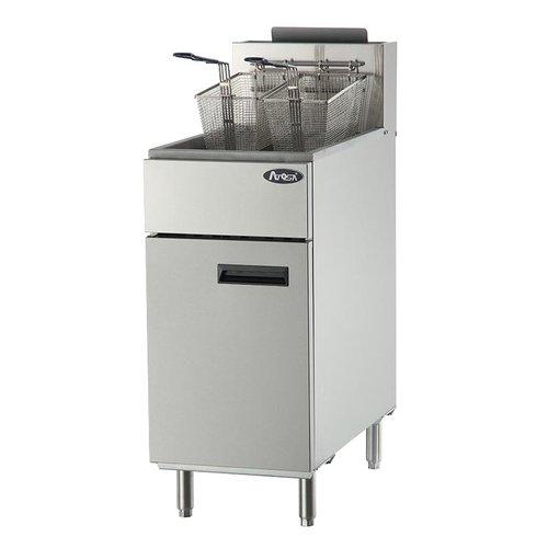 40 lb. Heavy Duty Stainless Steel Deep Fryer
