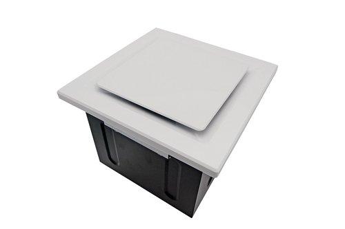 Super Quiet 80 CFM 0.3 Sones Bathroom Ceiling Ventilation Fan with True White Grille