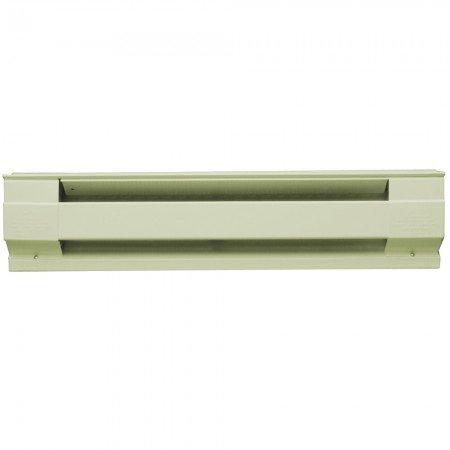 2500W Electric Baseboard Heater, 8-Feet, 208V/240V, Almond