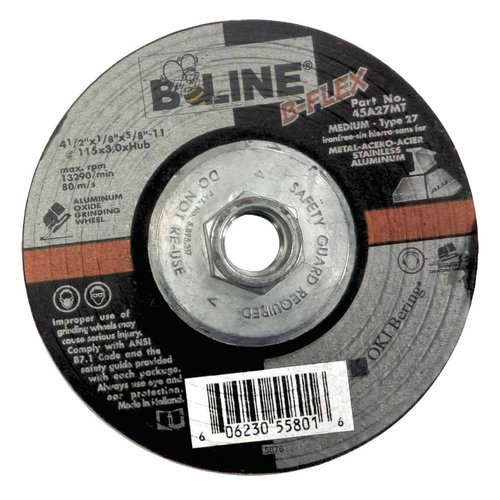 4.5 Inch Diameter 46 Grit Flexible Abrasive Wheel