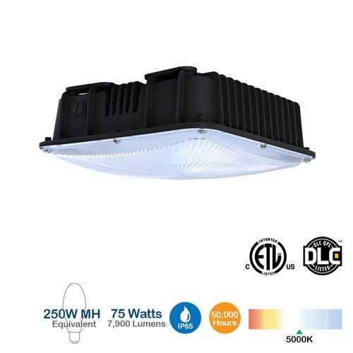 75W LED Canopy Fixture, 5000K, 7900 Lumen, 250W MH Equivalent