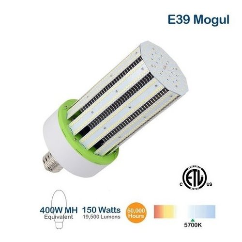 150W LED Corn Bulb, 400W MH Replacement, 19500 Lumens, 5700K
