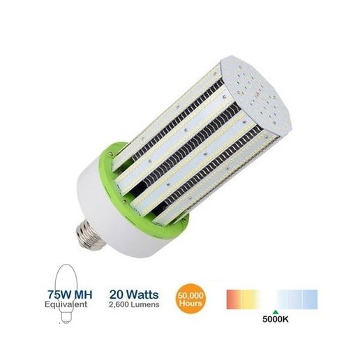 20W LED Corn Bulb, 100W MH Replacement, 2600 Lumens, 5000K